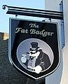 Sign for the Fat Badger public house, Bridlington (geograph 5064398).jpg