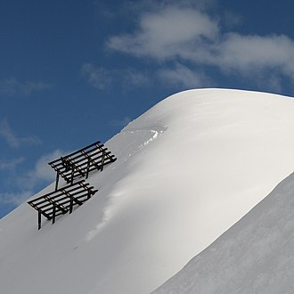 Snow shed - A snow bridge near a ski-resort in Vorarlberg