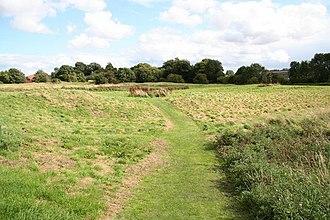 Sleaford Castle - Image: Sleaford Castle earthworks geograph.org.uk 960260