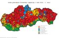 Slovensko prezidentské voľby 2014 1. kolo obce.png
