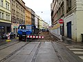 Smíchov, Plzeňská, rekonstrukce TT, od ulice U Trojice.jpg