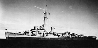 USS Frederick C. Davis - Participating in Operation Teardrop in the spring of 1945