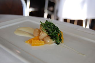 Smoked scallop - Image: Smoked scallop appetizer