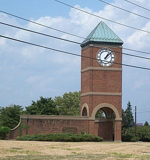 Droyer's Point - Clock tower in Society Hill