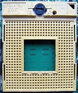 Socket M - Image: Socket m PGA478MT Socket M