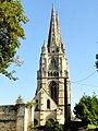 Soissons (02), abbaye Saint-Jean-des-Vignes, abbatiale, tour sud, vue depuis le sud 1.jpg