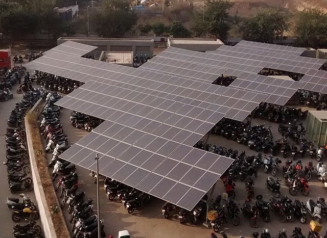 Solar Panels at HUDA City Centre Parking Lot.