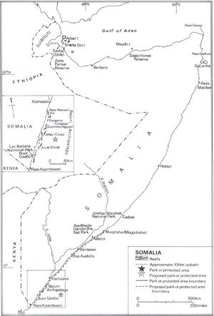 Piracy off the coast of Somalia - Somalia's coral reefs, ecological parks and protected areas