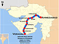 Somnath Express (Ahmedabad - Veraval) Route map.jpg
