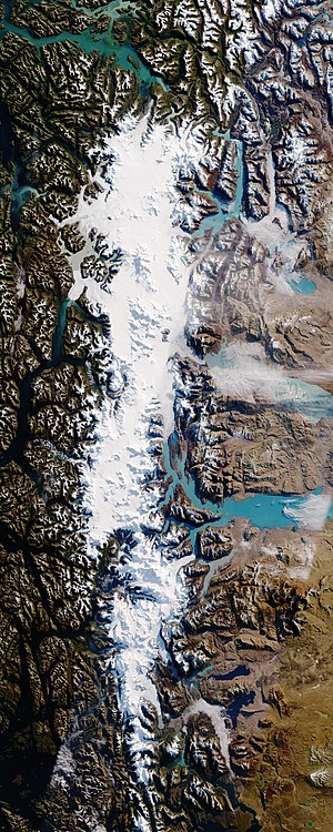 Southern Patagonian Ice Field - Image: Sothernpatagonia oli 2016120 2016145 2016122 lrg