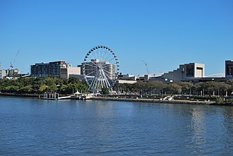 South Bank, Queensland - View of part of South Bank from the City.