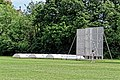 Southgate CC sight screen and covers at Walker Cricket Ground, Southgate, London, England 01.jpg