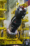 Soyuz TMA-19M spacecraft in the integration facility (1).jpg