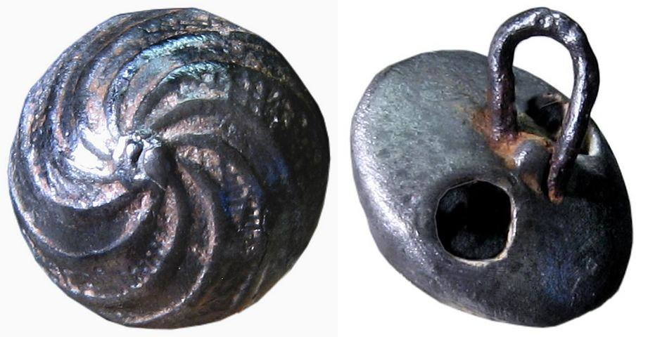 Spanish button ca. 1650-75 12mm f&b