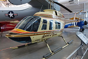 Ross Perot Jr. - Spirit of Texas, a Bell 206 helicopter used to circumnavigate the globe. Currently on display at the Smithsonian National Air and Space Museum at Dulles International Airport.