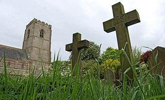 John Metcalf (civil engineer) - All Saints Church grounds, Spofforth; Metcalf's final resting place.