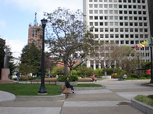 Saint Mary's Square (San Francisco) - The square in 2008