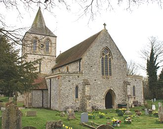 Pevensey - Early English St. Nicolas Church, the Anglican parish church of Pevensey.