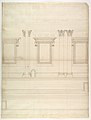St. Peter's, drum, exterior, elevation (recto) St. Peter's, tribune, entablature, section and details (verso) MET DP819041.jpg