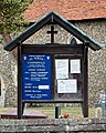 St Alban the Martyr's Church, Coopersale churchyard noticeboard.jpg