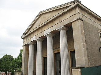 St Matthew's Church, Brixton - Portico of St Matthew's Church
