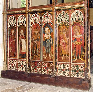 St Michael and All Angels Church, Barton Turf - Left choir screen