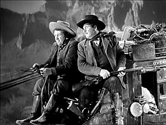 Stagecoach (1939 film) - Andy Devine and George Bancroft