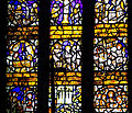Stained glass window at chapel of Lytes Cary Manor (4699329854).jpg
