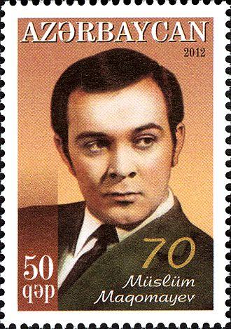 Muslim Magomayev (musician) - Magomaev on a postage stamp of Azerbaijan