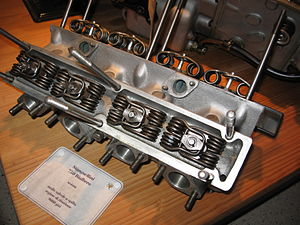 Automobili Stanguellini - Stanguellini 750cc cylinder head - note the dual hairpin valve springs