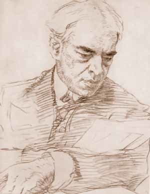 Theatre director - A portrait of Constantin Stanislavski by Valentin Serov
