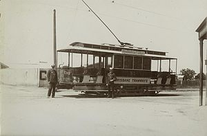Trams in Brisbane - Combination tram in Racecourse Road, Ascot