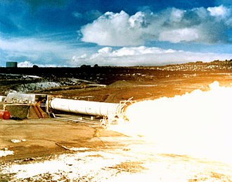 Space Shuttle Solid Rocket Booster - Static test firing, 1978