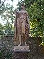 Statue of Goddess Flora (1953). - 1 Honvéd Street, Balatonfüred.JPG