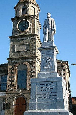 Selkirkshire - Sir Walter Scott, Sheriff of the county (before courthouse in Selkirk)