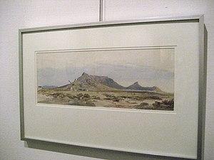 Solomon Caesar Malan - Table Mountain (Cape Town). Drawing by Solomon Malan (1839), now at Sasol Art Museum Stellenbosch