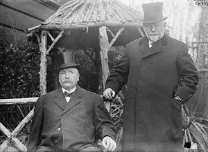 Stephen R. Fitzgarrald - Joseph M. Carey, governor of Wyoming (right) and Stephen R. Fitzgarrald, Lieutenant Governor of Colorado (left)