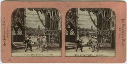 Stereokort, Les Huguenots 7, Le duel - SMV - S55a.tif