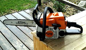 Chainsaw - A Stihl chainsaw