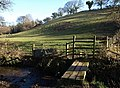 Stile and bridge across Batt's Brook - geograph.org.uk - 689992.jpg