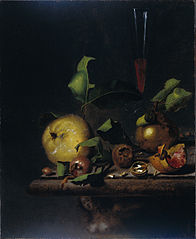 Still Life with Quinces, Medlars and a Glass