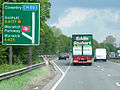 Stobart truck on the Warwick Bypass, Warwickshire, 17 May 2013 (6).jpg