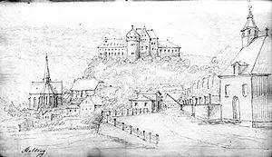 Eduard Knoblauch - Sketch of Stolberg (Harz) by Eduard Knoblauch, c. 1830