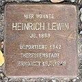 Stolperstein Aschaffenburger Str 6a (Wilmd) Heinrich Lewin.jpg