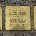 Stolperstein Günthersburgalle 43 Simon Stein.jpg