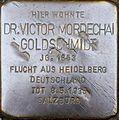 Stolperstein Salzburg, Dr. Victor Mordechai Goldschmidt (Paris-Lodron-Straße 18).jpg