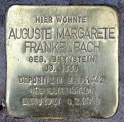 Photo of Auguste Margarete Frankenbach brass plaque