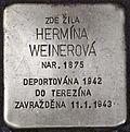Stolperstein für Hermina Weinerova.jpg
