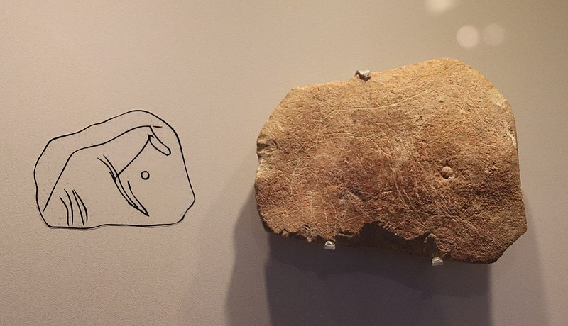 File:Stone Age Animal Carving, Hayonim Cave, 28000 BP.jpg