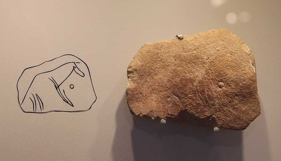 Stone Age Animal Carving, Hayonim Cave, 28000 BP